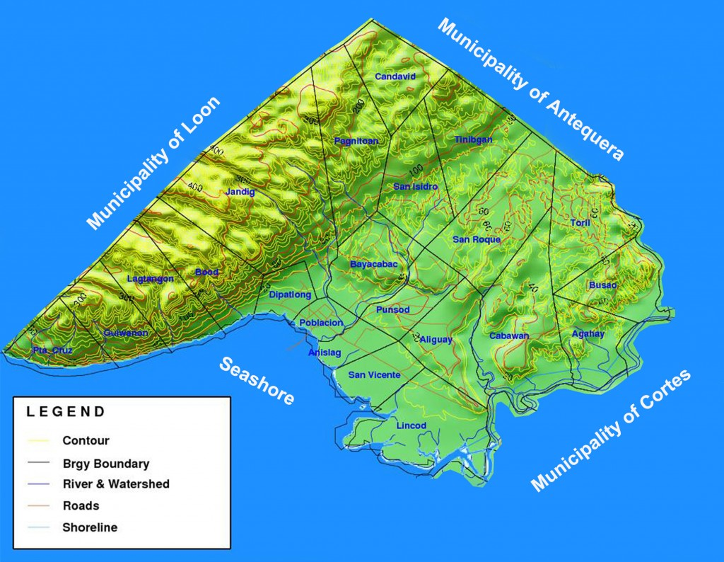 Map of Maribojoc