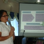 Engr. Ronie Bunado of the PPDO stresses a point during the presentation of the draft of the Local Development Investment Program for 2011-2020 for SB members.  In attendance were members of the Technical Working Group for the Comprehensive Development Plan of the municipality.  (Photo by Amor Maria Vistal)