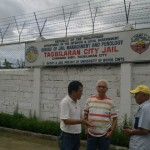 MAYOR EVASCO VISITS BJMP-RUN TAGBILARAN CITY JAIL - Mayor Boy Evasco huddles with Councilor Jun Redilla and Maribojoc's information officer Fred Fuertes after visiting inmates who are Maribojocanons at the Bureau of Jail Management and Penology (BJMP) – Tagbilaran City Jail in Cabawan. True to his pro-people stance, Evasco advised the CDRC occupants to implore always the help of the Almighty in their lonely moments. He assured them his support for them when the need arises. The town chief executive was a political prisoner in Davao City during the martial law years. (FCF)