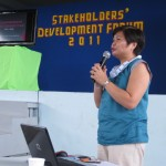MPDC Engr. Maria Nenita R. Chiu presents to the stakeholders the 2011-2016 Comprehensive Development Plan of Maribojoc.