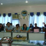 Provincial Civil Defense Officer Florenda L. Gaviola orients members of the Sangguniang Bayan, the 22 Punong Barangays, representative from DepEd Maribojoc District and the local government to the training-workshop objectives.