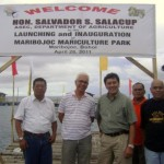 DA-BFAR R7 Regional Director Andres M. Bojos, Mayor Leoncio B. Evasco, Jr., DA Assistant Secretary for Fisheries/Agribusiness and Marketing and DA Spokesperson Salvador S. Salacup and LGU Maribojoc's Chief Administrative Officer Oscar Francisco E. Valles.