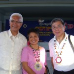 Mayor Leoncio B. Evasco, Jr.   Synergeia Foundation, Inc.'s program director Dr. Caridad T. Tharan and board of trustee Rafael 'Lito' Coscolluela at the Education Summit held last Tuesday at the Dr. Abundio Echavez Memorial Sports and Cultural Center.