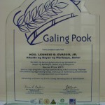 Galing Pook 2011 Plaque for Mayor Leoncio B. Evasco, Jr.