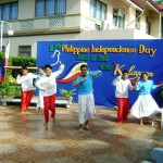 "Maribojoc Children's Cultural Dance Group performs the ""Kuradang"" dance during the 113th Independence Day celebration."