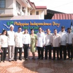 From left: Moises Descallar, Mrs. Florita Amaga-Evasco, Mayor Leoncio B. Evasco, Jr., Vice-mayor Fructuoso F. Redulla, Jr., sangguniang bayan members Lalai E. Pohl, Cel P. Autentico, Boyet Castilla, Mackie Melecio, Dodong Arangoso, Marcial Quiwag, Ojie Jugo and Poypoy Evasco.