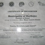 Pusong Makakalusugan Award from the Department of Health