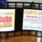 Plaque of Appreciation from the Bohol Sandugo Foundation